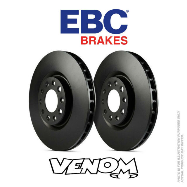 EBC OE Trasero Discos De Freno 255mm para Audi A3 Cabrio 8P 1.2 Turbo 2010-2013 D1283