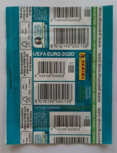1X PACKET PANINI UEFA EURO 2020 PREVIEW GERMANY CODE BACK POCHETTE BUSTINA