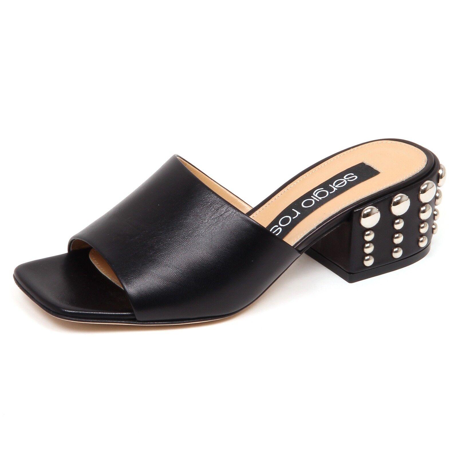 F0950 Sandalo mujer Negro Sergio Rossi zapatos clavos zapato mujer