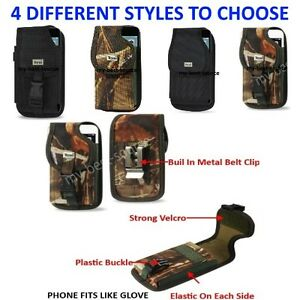 Commercial-Grade-Case-With-Metal-Belt-Clip-Cover-Holster-Pouch-For-Smart-Phones