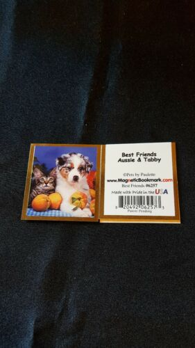 Magnetic Bookmarks Best Friends Aussie & Tabby