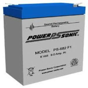 BATTERY-POWER-SONIC-PS-682F1-6V-9AH-RECHARGEABLE-MAINT-FREE-EACH
