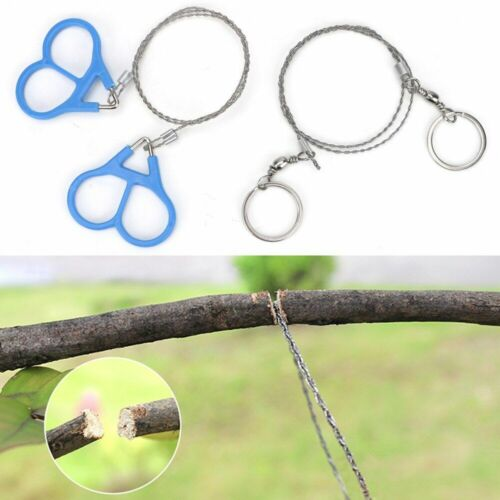 Stainless Steel Emergent Survival Wire Saw Handle For Cutting Outdoor Hand Tool