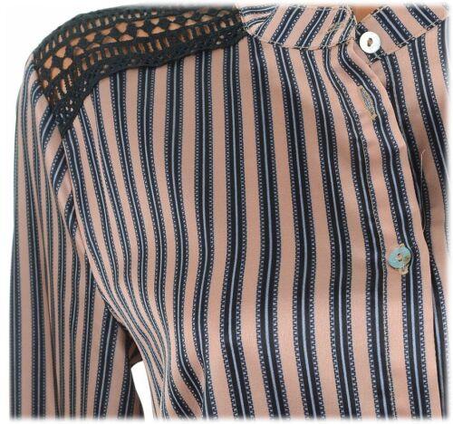 L CULTURE 38 C17653B Bluse M BROWN SRIPE