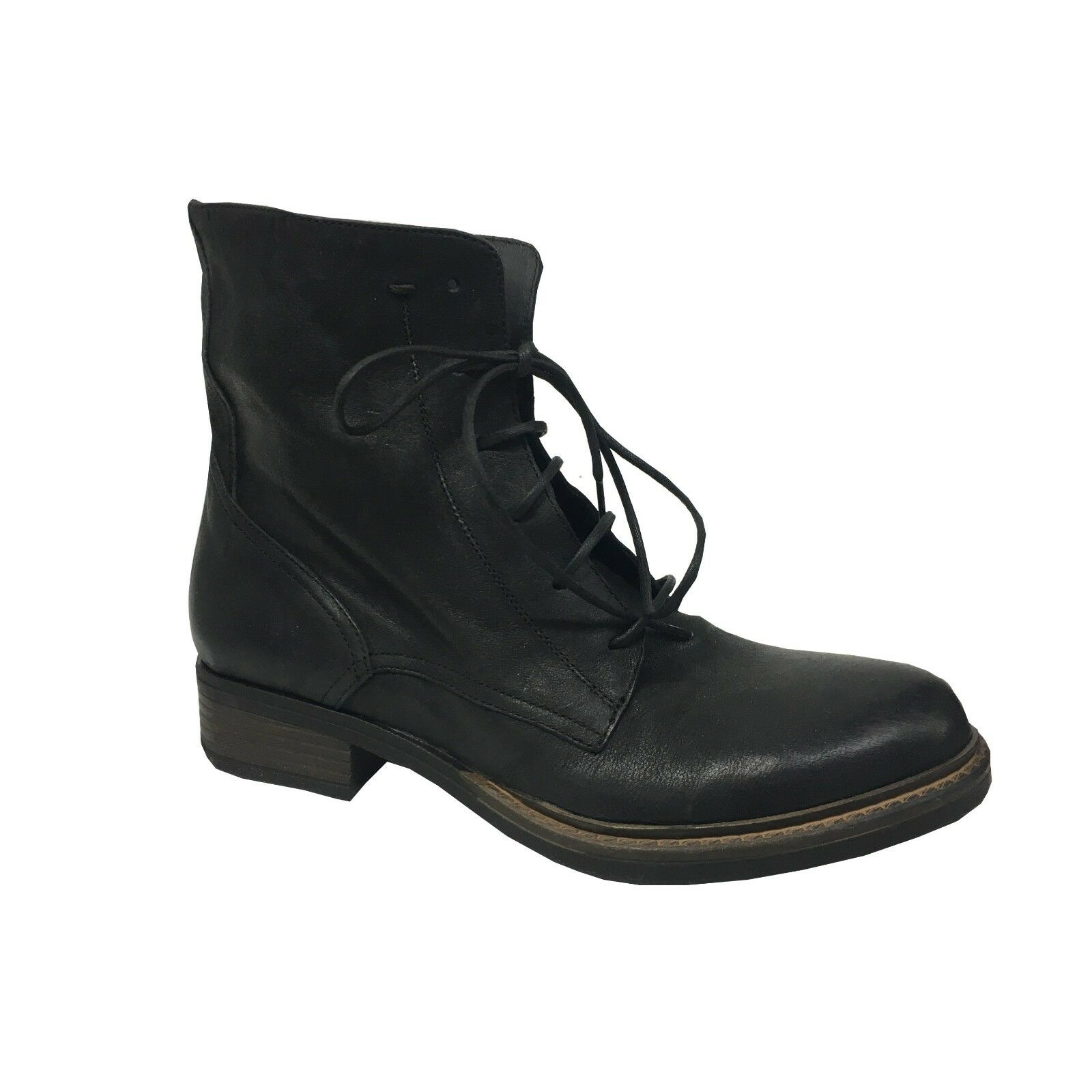 WHY NOT bottine femme avec lacets noir VALERIE VALERIE VALERIE 100% cuir MADE IN ITALY 878142