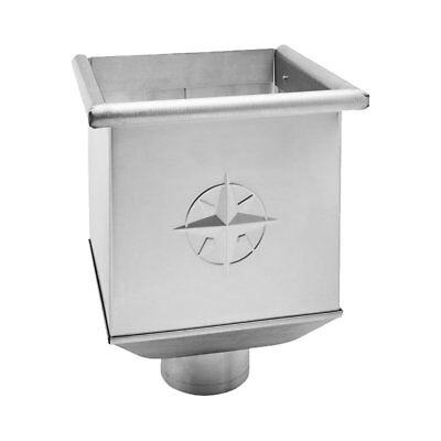 Fürs Dach Heimwerker Ausdrucksvoll Zink Rinnenkasten Wasserfangkasten Für Fallrohr Dn 87 Erfrischend Und Wohltuend FüR Die Augen