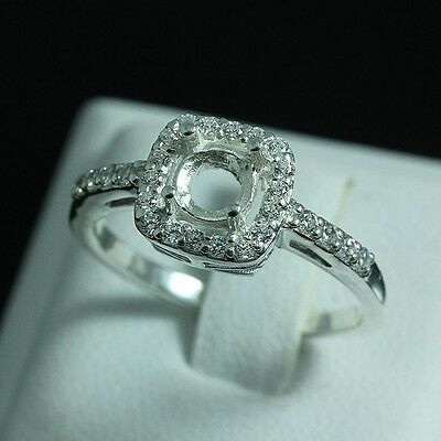 5.0 Round ring semi-mount CZ setting sterling silver 925 #0282