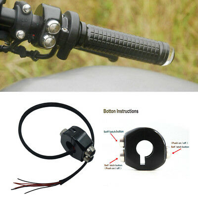 1PCS CNC All self-resetting switch horn// engine power// start kill switches