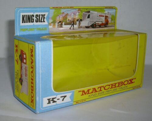 Repro Box Matchbox King Size K 7 Refuse Truck