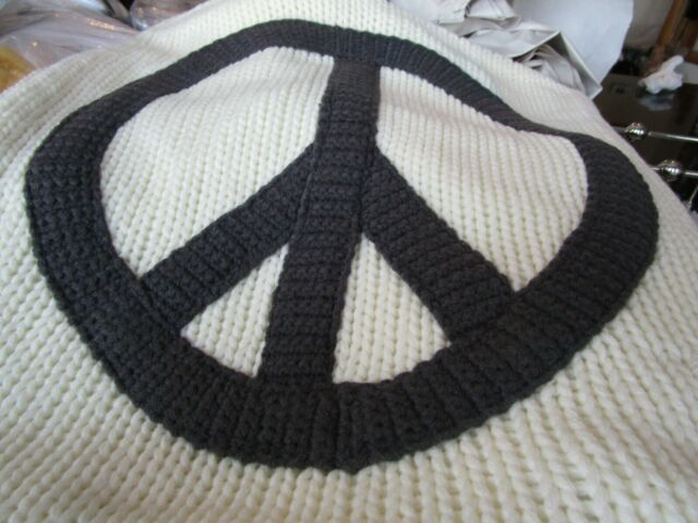 Pottery Barn Peace Knit Applique Pillow Cover 18 Quot Small