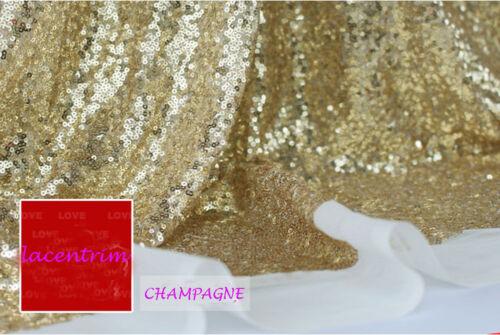 """25 couleurs de perles robe de mariée tissu 51/"""" Bling Mariage Maille Tissu En Dentelle 0.5 m"""