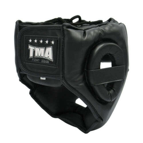 TMA Training Head Guard Helmet Boxing MMA Martial Arts Kick Gear Face Protector