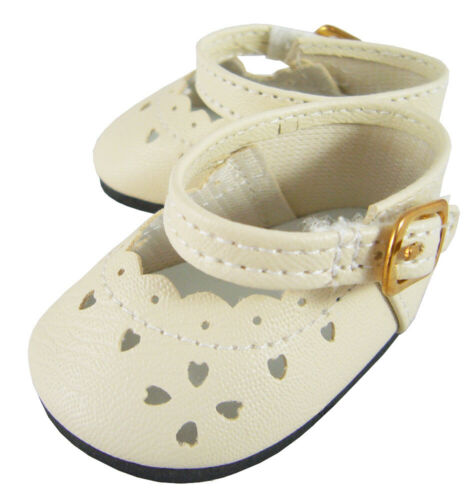Cream HIGHEST QUALITY Dress Shoes for American Girl BITTY BABY Scalloped Edge