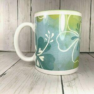 Island-Heritage-2005-Lei-Ceramic-12-oz-Coffee-Mug-Honolulu-Hawaii-Green-Hibiscus