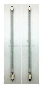 2x 400 w chauffage halogène de remplacement Tubes 195mm feu bar chauffage Lampe Ampoule élément