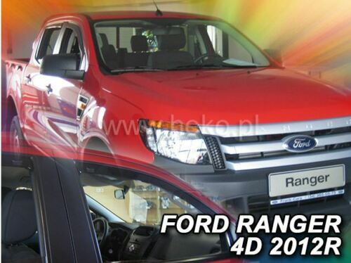 2 Deflettori Aria Antiturbo Ford Ranger III 2012 in poi 4 porte