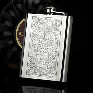 HONEST-Embossed-Arabesques-8OZ-High-Quality-304-Stainless-Steel-Hip-Flask