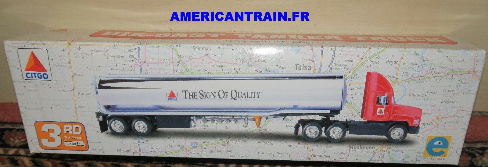 Camion-citerne Américain   Citgo The Sign of Quality   échelle O