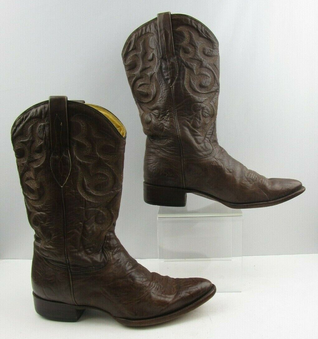 Men's Corral Brown Leather Western Boots Size   11 EE