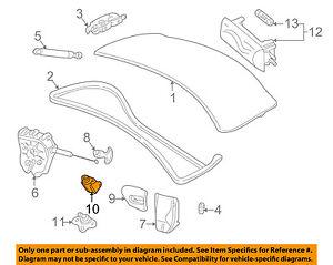 Jaguar X-Type Trunk Lid Latch Right Hand Actuator C2S46395