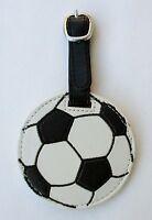 Aa Soccer Football Luggage Tag Sports Bag Id Faux Vegan Leather Flair Ganz