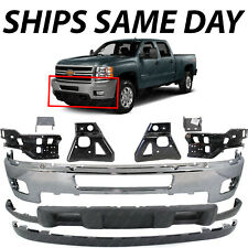 New Chrome Front Bumper Complete 9pc Kit For 2011 2014 Chevy Silverado 2500 3500 Fits More Than One Vehicle