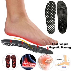 a187e25894374 Details about Magnetic Insoles High Arch Orthotic Shoe Inserts Flat Feet  Plantar Fasciitis MYG