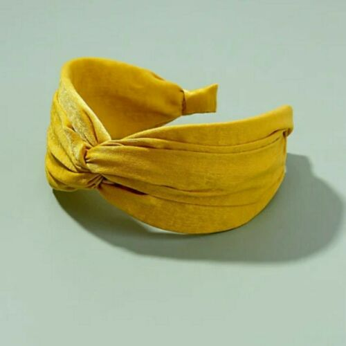 NEW Anthropologie Yellow Twist Knot Wide Thick Headband Wedding Occasion