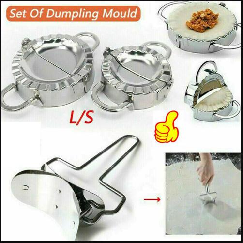 2x Stainless Steel Dumpling Mould Ravioli Maker Mold Pastry Dough Press Cutter