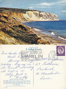 1965-CULVER-CLIFF-ISLE-OF-WIGHT-COLOUR-POSTCARD