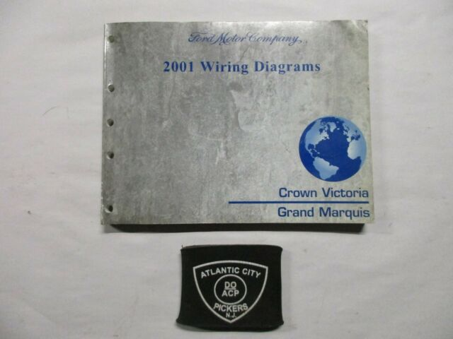 2001 Ford Crown Victoria Grand Marquis Electrical Wiring Diagrams Service Manual