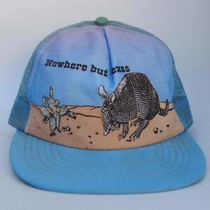 601c271a872 Details about NOWHERE BUT TEXAS Blue Trucker Mesh Baseball Cap Hat  Adjustable Snapback