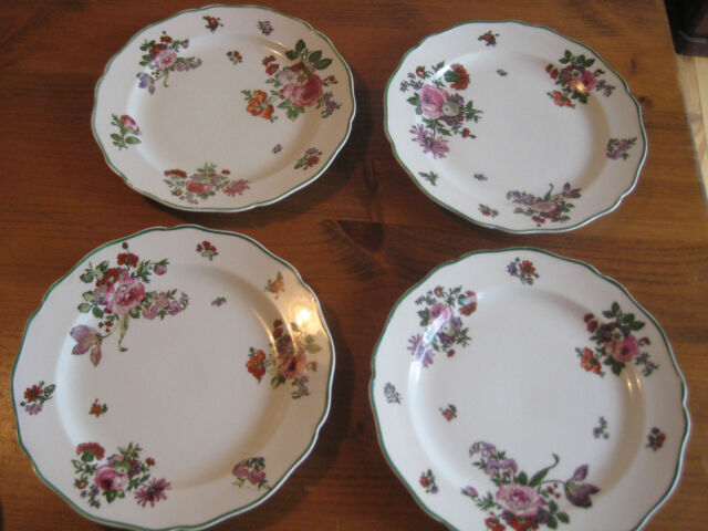 4 Royal Doulton Dinner Plates Boston Floral Pattern 10