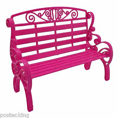 Pink Garden 2-Seater Chair Bench New 1/6 Barbie Doll's House Dollhouse Furniture