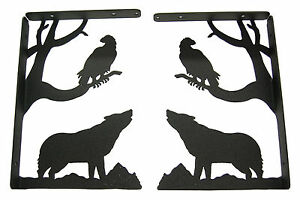 Howling-Wolf-amp-Eagle-Shelf-Bracket-Set