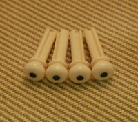 Bp-0677-028 (4) Cream Grooved Acoustic Bass Bridge Pins