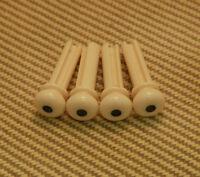 Bp-0677-028 (4) Cream Grooved Acoustic Bass Bridge Pins