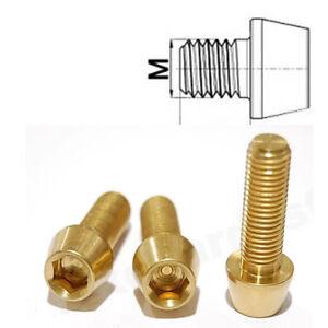 Titan-Schraube-M10-x-20-25-konisch-DIN-912-Grade-5-Gold