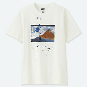 UNIQLO × Hokusai Blue Men/'s T-shirt graphique//blanc cassé//Japon//NEUF//