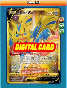 Zamazenta V Full Art Digital Online Pokemon Card Sword And Shield Ptcgo Fast!