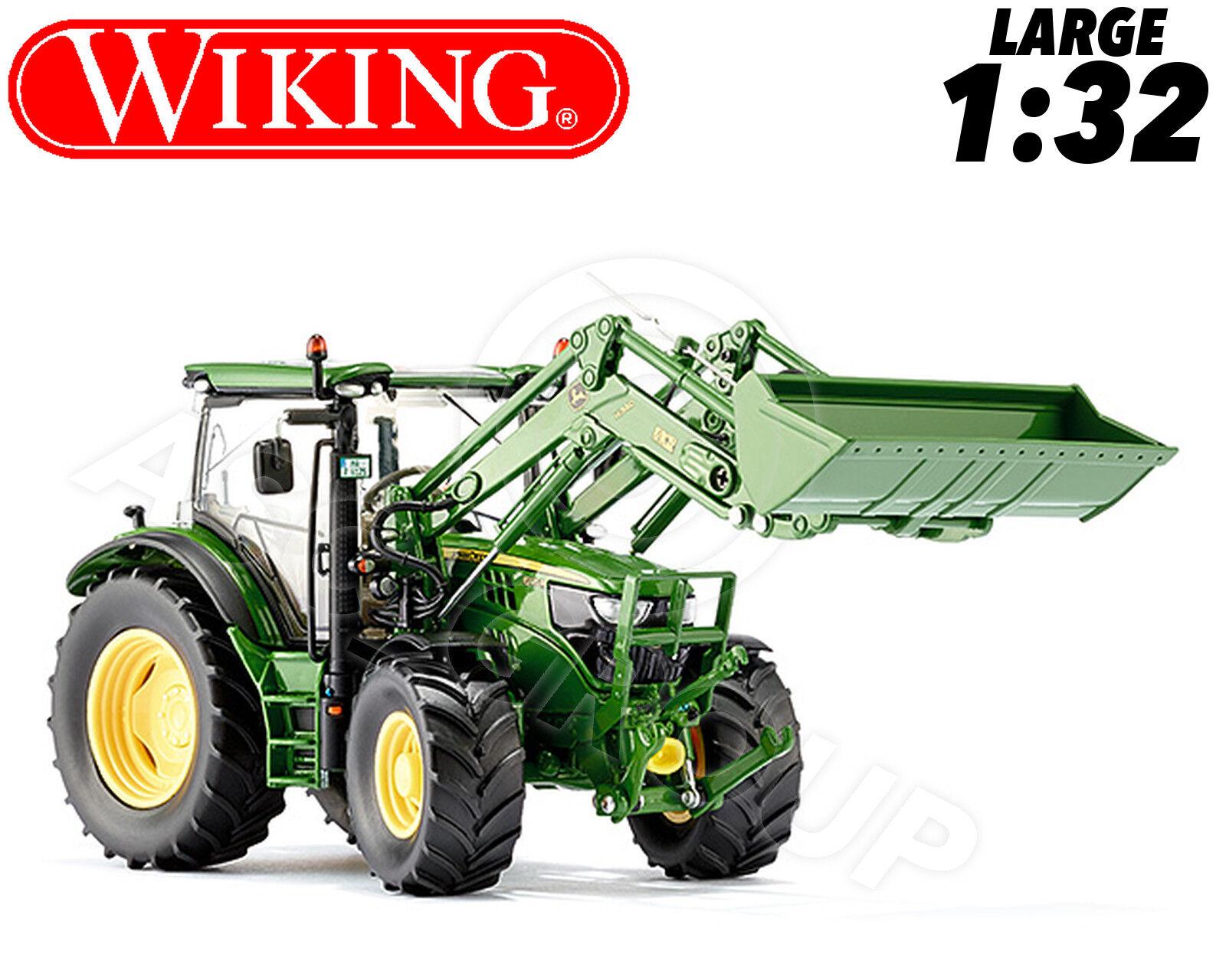 Wiking 077344 John Deere 6125 Trattore & FR Loader 1 32 COLLEZIONISTI pressofusione modello