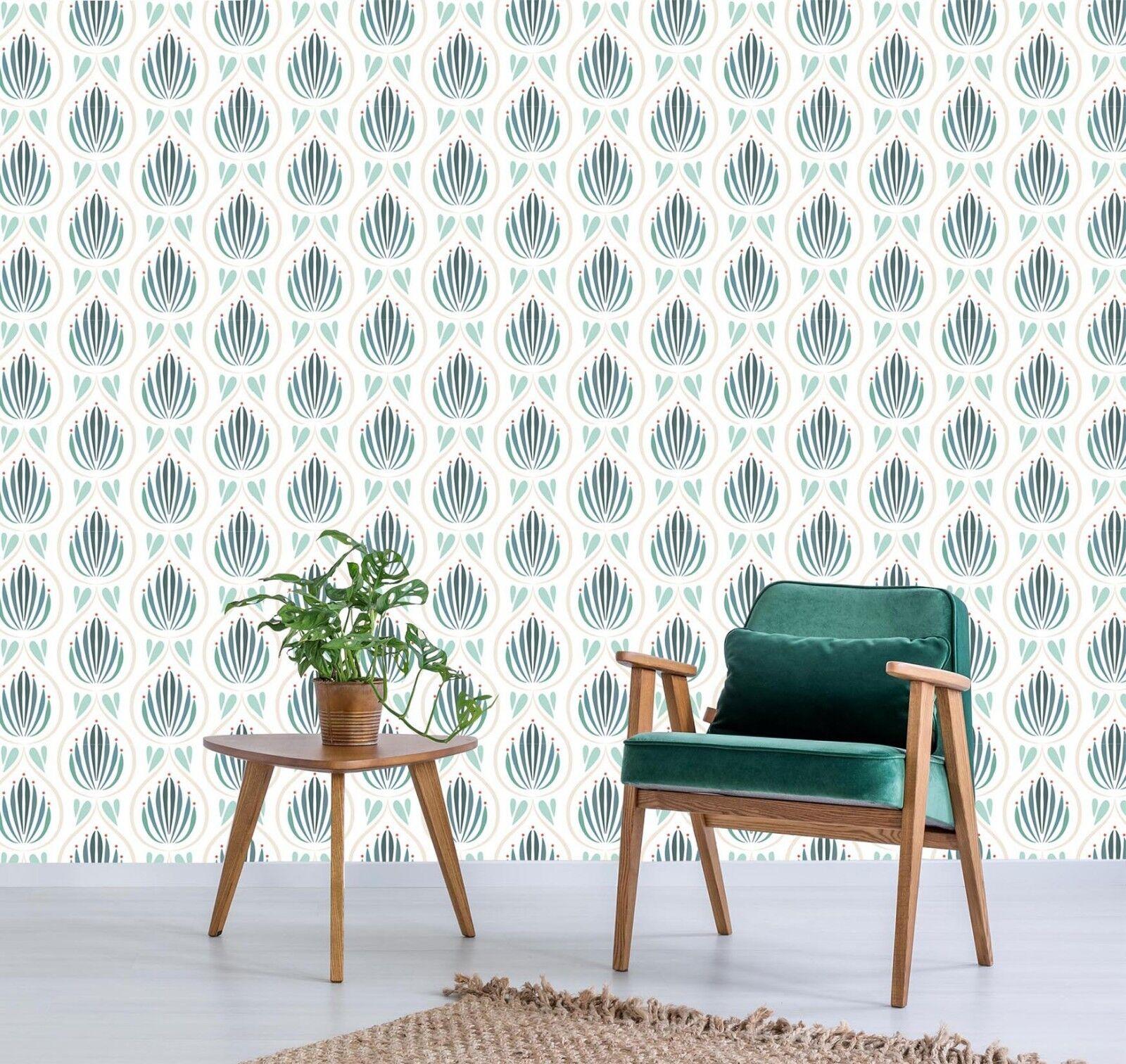 3D green Muster 705 Tapete Wandgemälde Tapete Tapeten Bild Familie DE Lemon