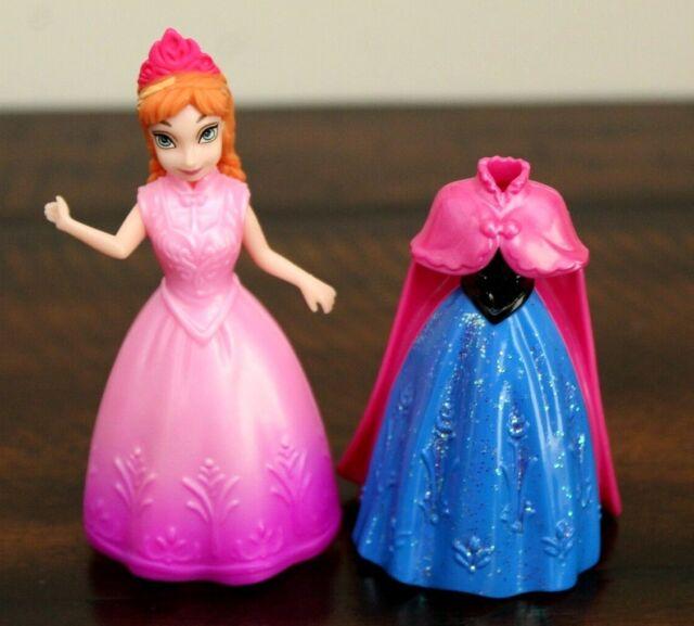 "Disney Princess Doll Magic Clip MagiClip Polly Pocket Frozen Anna Figure 3.75/"""