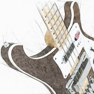 Details about Rickenbacker Bass Guitar Canvas / Poster 3 Sizes Yes Chris  Squire Lemmy