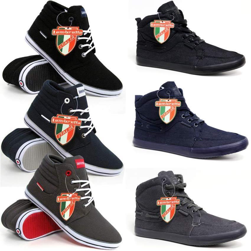 Lambretta Homme Baskets hi top pompes cheville haute nouveau mode bottes chaussures taille