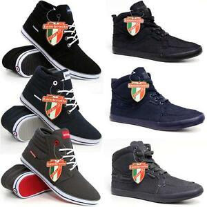 Lambretta-Mens-Hi-Tops-Trainers-New-High-Ankle-Pumps-Fashion-Boots-Shoes-Size