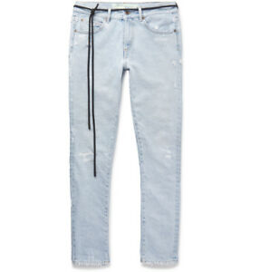 9e775fc2e67c Off-White c o Virgil Abloh Low Crotch 5P Denim Jeans Bleach ...