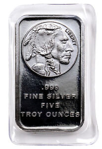 Daily-Deal-5-oz-999-Silver-Bar-American-Indian-Buffalo-Design-SKU28954