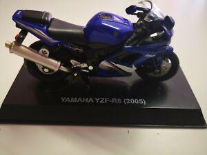NEWRAY-1-32-YAMAHA-yzf-r6-2005-Mattoncini-da-collezione-BLU