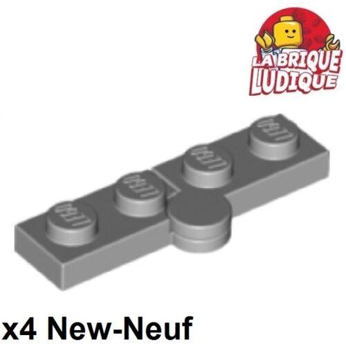 4x Charnière hinge plate plaque swivel 1x4 gris//light b gray 2429c01 NEUF Lego